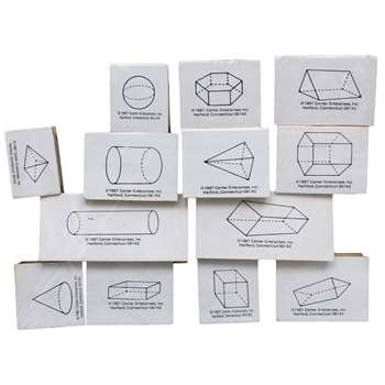 Stamp Set Three Dimensional 13/Pk Geometrimc Shapes By Center Enterprises