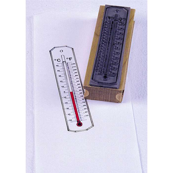Stamp Thermometer Cellsius/ Fahrenheit By Center Enterprises