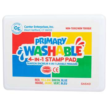 Stamp Pad Primary Washable Red Blue Yellow Green By Center Enterprises