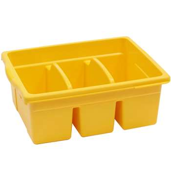 Leveled Reading Yellow Large Divided Book Tub By Copernicus Educational