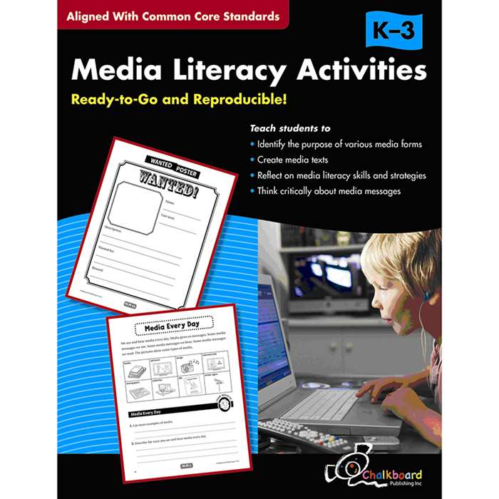 Media Literacy Activities Book Gr K-3 By Chalkboard Publishing
