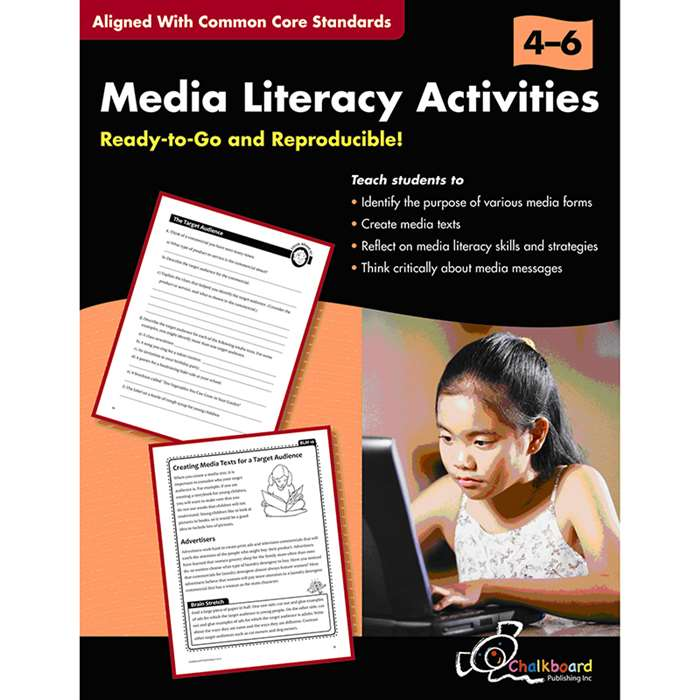Media Literacy Activities Book Gr 4-6 By Chalkboard Publishing