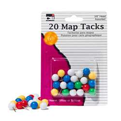Map Tacks Pack Of 20 By Charles Leonard