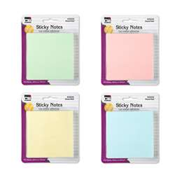 Sticky Notes 3X3 4 Pads Pastel Asst, CHL33234