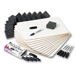 Dry Erase Boards Magnetic Lapboard Class Pack Plai, CHL35040