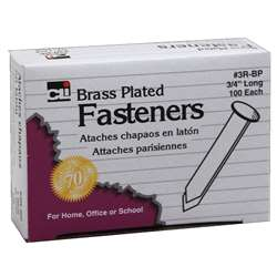 Brass Paper Fasteners 3/4 100/Box By Charles Leonard