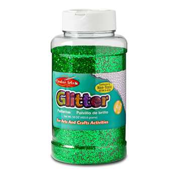 Glitter 16 Oz Bottle Green, CHL41125