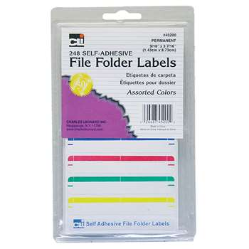 File Folder Labels Assorted, CHL45200