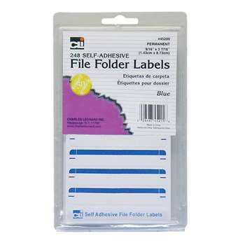 File Folder Labels Blue, CHL45215
