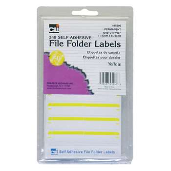File Folder Labels Yellow, CHL45240
