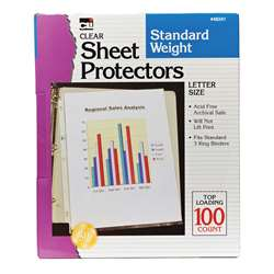 Sheet Protectors Clear Box Of 100 By Charles Leonard