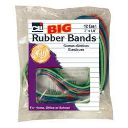 "Big Rubber Bands 7X1/8"" 12Pk, CHL56317"