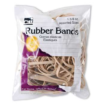 Rubber Bands Natural Color 1 3/8 Oz Bag, CHL56381
