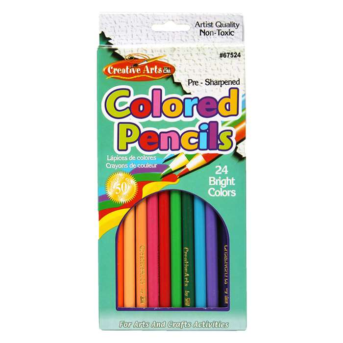 Shop Presharpened 7 Inch Colored Pencils 24 Per Set - Chl67524 By Charles Leonard