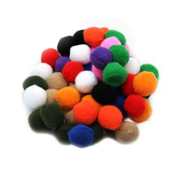 "Pom Poms 1"" Asst Colors 50Ct, CHL69500"