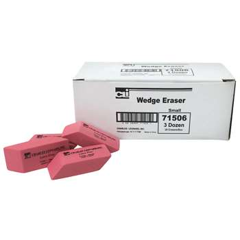 Synthetic Wedge Erasers Small 36/Bx By Charles Leonard
