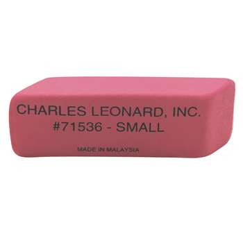Pink Economy Wedge Erasers Small 36/Bx By Charles Leonard