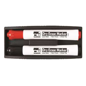 Shop Magnetic Whiteboard Eraser With Two Markers - Chl74532 By Charles Leonard