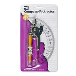 "Compass Ball Bearing 6"" Protractor, CHL80960"
