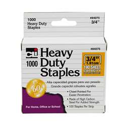 Extra Heavy Duty Staples 3/4, CHL84075
