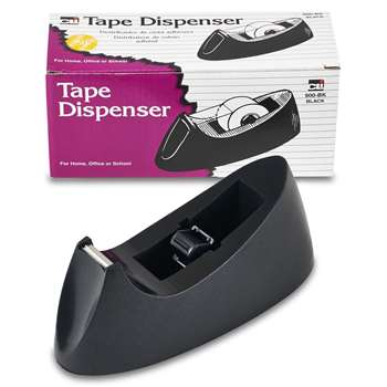 Desk Tape Dispenser Black By Charles Leonard