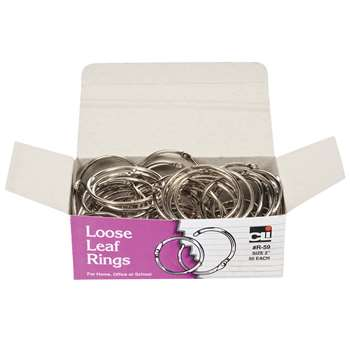 Loose Leaf Book Rings 50/Box 2 Diameter By Charles Leonard