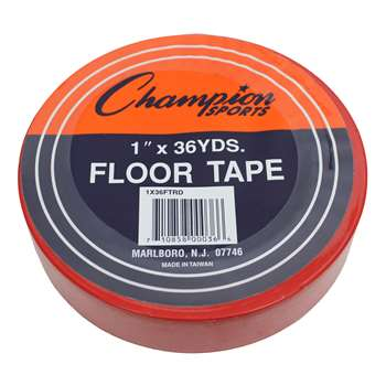 Floor Marking Tape Red By Champion Sports