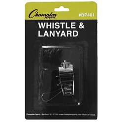 Whistle With Lanyard Pack Of 12 By Champion Sports