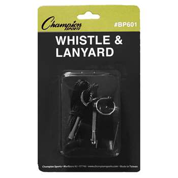 Plastic Whistle And Lanyard Set By Champion Sports