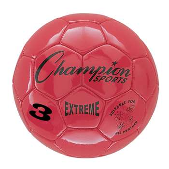 Soccer Ball Size3 Composite Red, CHSEX3RD