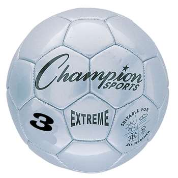 Soccer Ball Size3 Composite Silver, CHSEX3SL