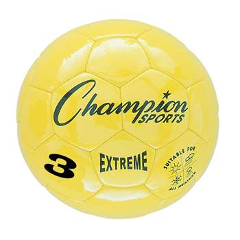 Soccer Ball Size3 Composite Yellow, CHSEX3YL