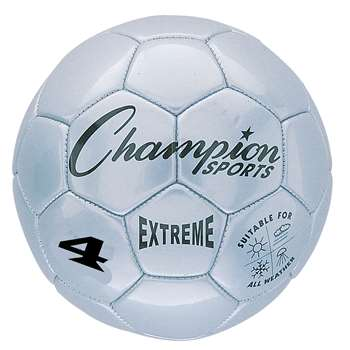 Soccer Ball Size4 Composite Silver, CHSEX4SL