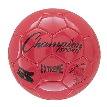 Soccer Ball Size 5 Composite Red, CHSEX5RD