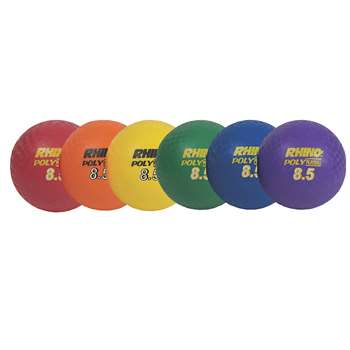 "Playground Ball Set Of 6 8 1/2"" CHSPX85SET"