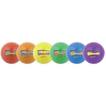 "Soccer Ball Set/6 Rhino Skin 8 "" Super Squeeze As, CHSSQSBSET"