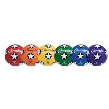Soccer Ball Set/6 Rubber Size 5, CHSSRB5SET