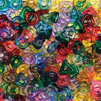 Stringing Ring Beads 220Pc Assorted Shapes & Colors By Chenille Kraft
