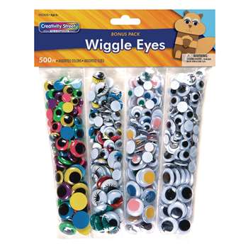Wiggle Eyes 500 Asst. By Chenille Kraft
