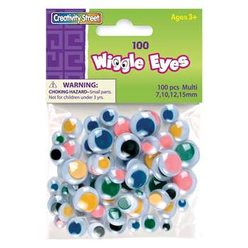 Wiggle Eyes Asst Size(100) Multi By Chenille Kraft