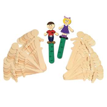 People Shaped Wood Craft 36 Pieces Sticks 18 Each By Chenille Kraft