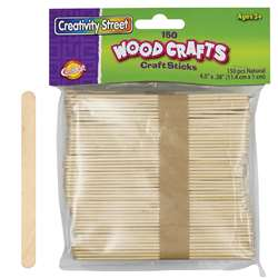 Craft Sticks Natural Color 150/Pk, CK-367501