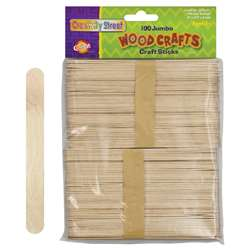 Jumbo Craft Sticks 6 X 3/4 100/Pk Natural By Chenille Kraft