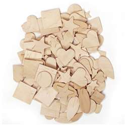 Wooden Shapes 350 Pieces By Chenille Kraft