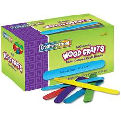 Jumbo Craft Sticks 500 Pcs Bright Hues By Chenille Kraft