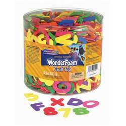 Wonderfoam Letters & Over 1500 Pieces Numbers Clear Plastic Tub By Chenille Kraft