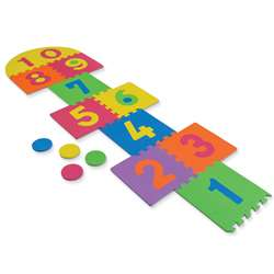 Wonderfoam Hop Scotch Mat 25 Pieces, 12-1/2 X 12-1/2 By Chenille Kraft