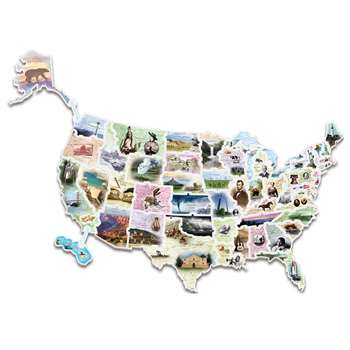 Wonderfoam Giant Usa Photo Puzzle Map By Chenille Kraft