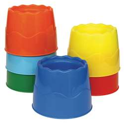 Stackable 6/Set Water Pots Assorted Colors 4.5 X 3.5 By Chenille Kraft