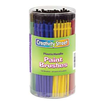 Economy Brushes 144-Pk 24 Each Of 6 Colors By Chenille Kraft